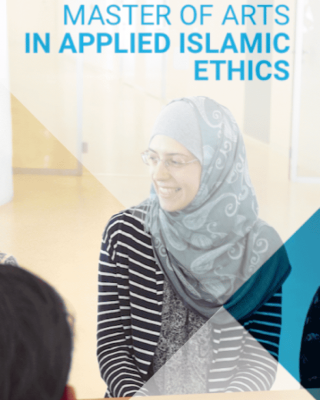 Application is now open for Local Students: M.A. in Applied Islamic Ethics